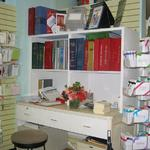 Retail shelving for a stationery store